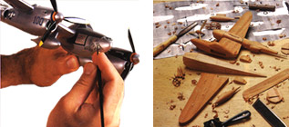 About these Handcrafted Airplane Models: