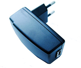 AC Wall Plug to 5V USB Adapter (EU Plug)
