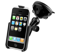 RAP-B-166-2-AP6U: Ram Windshield Mount for Apple iPhone 3G/3GS