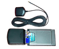 GlobalSat BC-307 Compact Flash GPS (PCMCIA Adapter and Ext. Antenna included) (Your Choice of Free Mount)