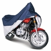 Classic Touring Motorcycle Cover Up To 1500 cc Full Dress Blue / Silver