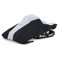 Deluxe Full Fit Snowwmobile Cover Black Medium
