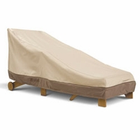 "Classic Veranda Day Chaise Cover  -  Wider Chaises up to 66""L x 36""W"