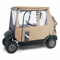 Deluxe 3-Sided Golf Car Enclosure - Sand