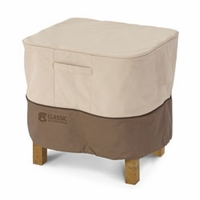 Classic Veranda Ottoman-Side Table Cover - Large Square 26""