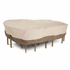 """Classic Veranda Patio Table And Chairs Cover - X-Large Rectangular-Oval 128""""L x 82""""W"""