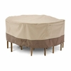 """Classic Veranda Round Patio Table & Chair Cover - Large 94""""D"""