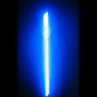 6' LED Safeglo Lighted Whip w Flag - BLUE - FREE SHIPPING