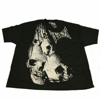 "Tapout Tap Out Mens Black Tee Shirt ""Skull Toga"""