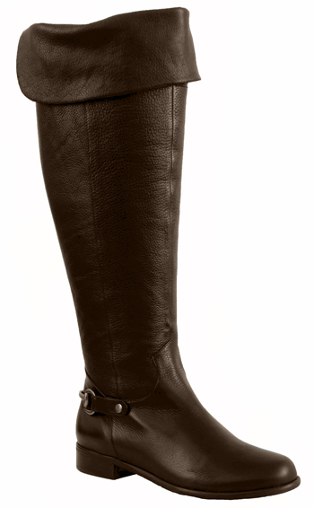 Ros Hommerson Women's Alyssa Extra Wide Calf Over-the-Knee Boots Boot (Brown)