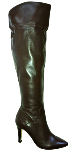 Ros Hommerson Women's Sherlock Extra Wide Calf Over-the-Knee Boots Boot (Brown)
