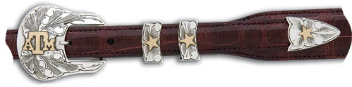 "The Aggie Sterling Silver & 14kt Gold 3/4"" Buckle $750"