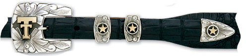 "Matador Sterling Silver & 14kt Gold 3/4"" Buckle $750"