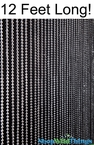 Ball Chain Faux Metal Steel Color Beaded Curtain - 12 Feet Long (FX Tv Show Powers!)