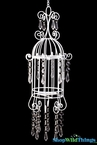 "White Candle Birdcage Hanging or Tabletop 14"" - White"