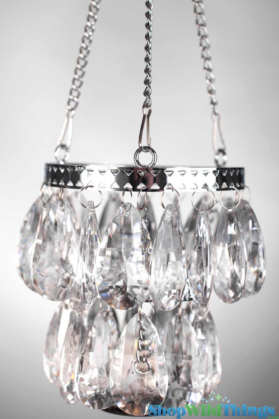 Hanging Crystal Candle Holders - Lynnie - 2 Tiers, 5""