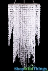 "Chandelier ""Quinn"" 21"" Tall x 10"" Diameter - Crystal"