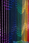 Raindrops Rainbow Non Iridescent Beaded Curtain - On Hit TV Show Burn Notice!