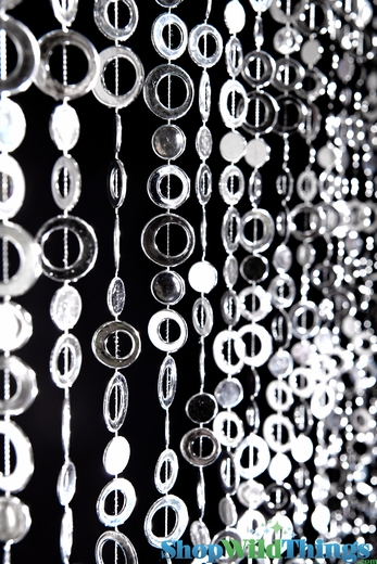 Circles Beaded Curtain - Silver - 3' x 6'