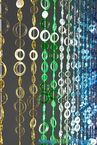 Circles Green/Blue NEW! Beaded Curtain