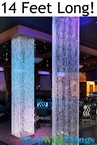 Brilliant  Square Crystal Non-Iridescent Column - 14 Feet Long!
