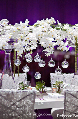 Glass Decorative Balls  - Hanging Glass Globes - 7 sizes available!