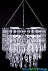 "Chandelier ""April"" 3 Tier Crystal"