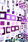 "Beaded Curtain ""Jackson"" PVC Squares - Metallic Purples"