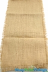 Jute Runner Fringe Edge Natural 14x72""