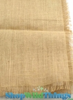 Jute Topper Fringe Edge Natural 48x48""