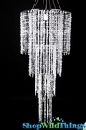 "Chandelier  ""Tiffany"" 4 Tier - w/ Diamante Duo Crystal Beads - HUGE!"