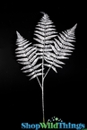"Sparkling Fern Spray 28"" - Silver"