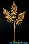 "Sparkling Fern Spray 28""  - Gold"