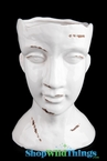 "Ceramic Head & Face Vase - 13"" Tall"