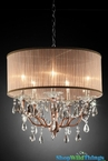 "Chandelier ""Downton"" Copper & Crystal"
