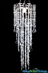 "Chandelier Beaded ""Diamante Duo Delight"" , Crystal Iridescent Large Beads"