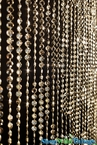 Diamonds 6' Light Gold Metallic Beaded Curtain