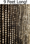 Diamonds 9' Light Gold Metallic Beaded Curtain