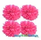 "Pom Poms 12"" Tissue Paper - Fuchsia - Set of 4"