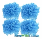 "Pom Poms 16"" Tissue Paper  - Turquoise - Set of 4"