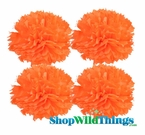 "Pom Poms 20"" Tissue Paper - Orange - Set of 4"
