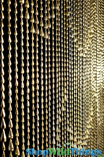 Raindrops Curtain Gold Backdrops Metallic Gold Beaded