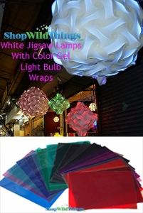 Color Gels - Light Bulb Filter Films - Adhesive Sheet to Cover (4) Lightbulbs