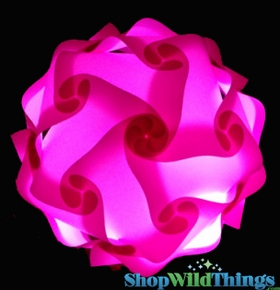 Jigsaw Lamp Puzzle Lamp Pink Large Polylights Plastic