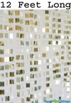 """Shimmy"" - 12 Foot Long - Lightweight Shiny Light Gold Metallic Beaded Curtain"