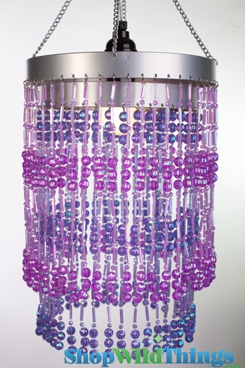 "Chandelier  ""Ashley""  2-Tier Hanging Lamp, Purple"