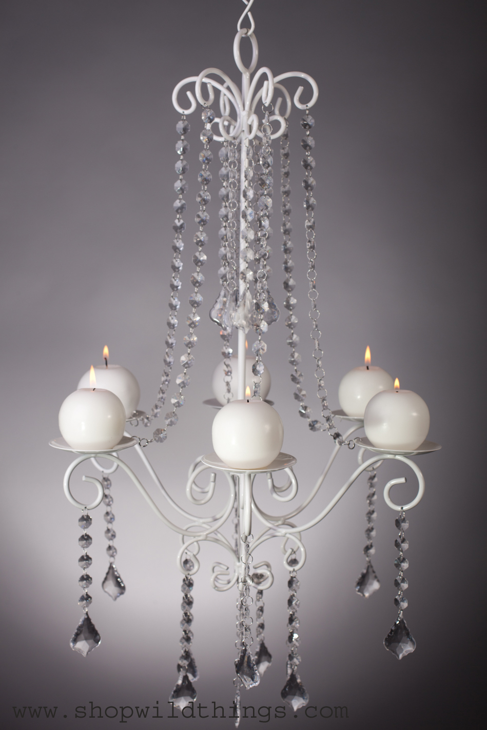 Crystal White Wedding D cor Candle Chandelier Hang or – White Candle Chandelier