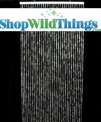 Diamonds Crystal  on CSI ! Beaded Curtain - 6 Feet Long - Iridescent Finish