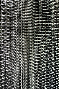 Lynx Aluminum Chain Beaded Curtain - Black - 3' x 6'
