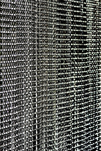 """Lynx"" Black Aluminum Chain Beaded Curtain 6' Long on Metal Rod"